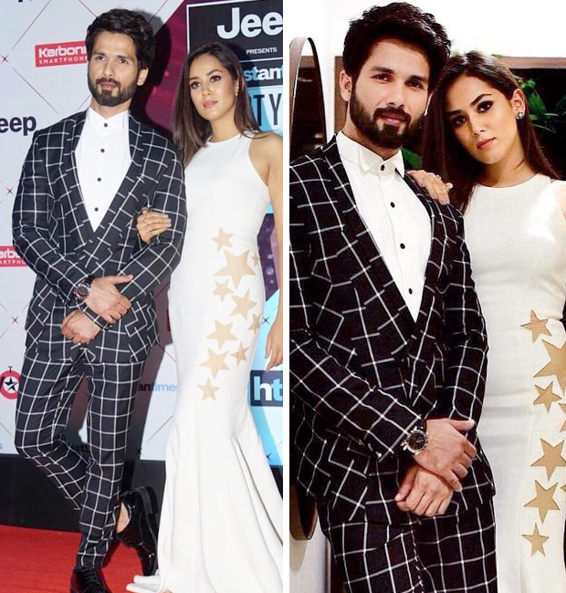 Shahid Kapoor and Mira Rajput at HT Most Stylish Awards 2018