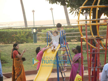 Shahid Kapoor's wife Mira Rajput snapped with their daughter Misha at Joggets park in Bandra