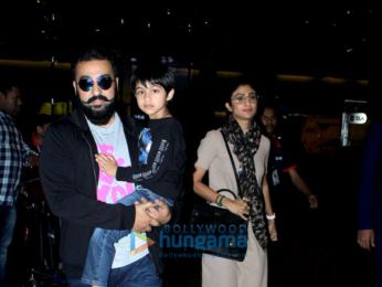 Shilpa Shetty and family snapped at the airport