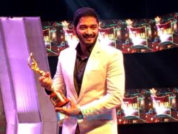 Shreyas Talpade wins the Best Debut Director Award for 'Poster Boys' at Kalakar Awards in Kolkata