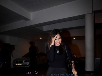 Sophie Choudry, Karan Tacker snapped at Manish Malhotra's home