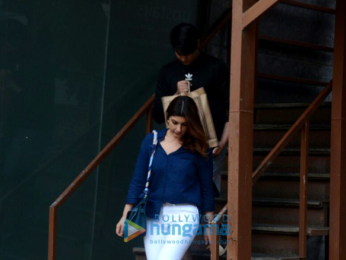 Twinkle Khanna snapped along with son Aarav in Juhu