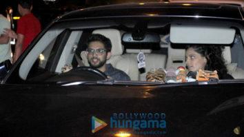Aditya Thackeray and Saiyami Kher spotted at Smoke House Deli