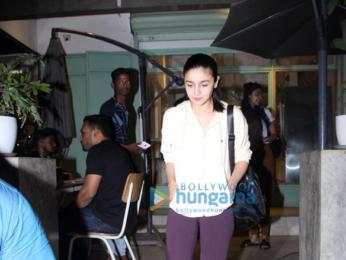 Alia Bhatt spotted at The Kitchen Garden in Bandra