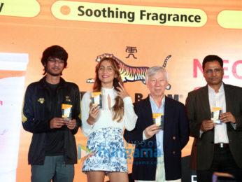 Anusha Dandekar snapped promoting Tiger Balm
