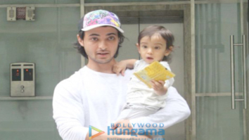 Ayush Sharma spotted with his son at his school in Bandra