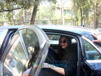 Deepika Padukone snapped at a recording studio in Bandra