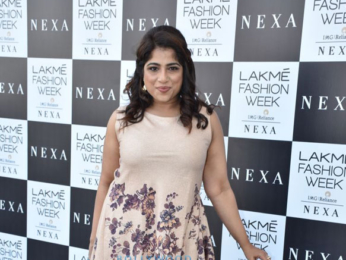 Disha Patani, Kriti Kharbanda and RJ Malishka snapped at the Lakme Fashion Week 2018