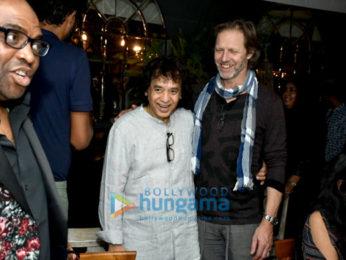 Grammy winner John McLaughlin and Zakir Hussain snapped at Dine at The Quarter Hotel