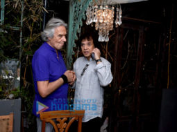 Grammy winner John McLaughlin and Zakir Hussain snapped at Dine at The Quarter Hotel