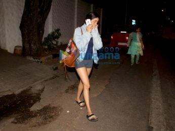 Janhvi Kapoor spotted at Sanjay Leela Bhansali's office in Juhu