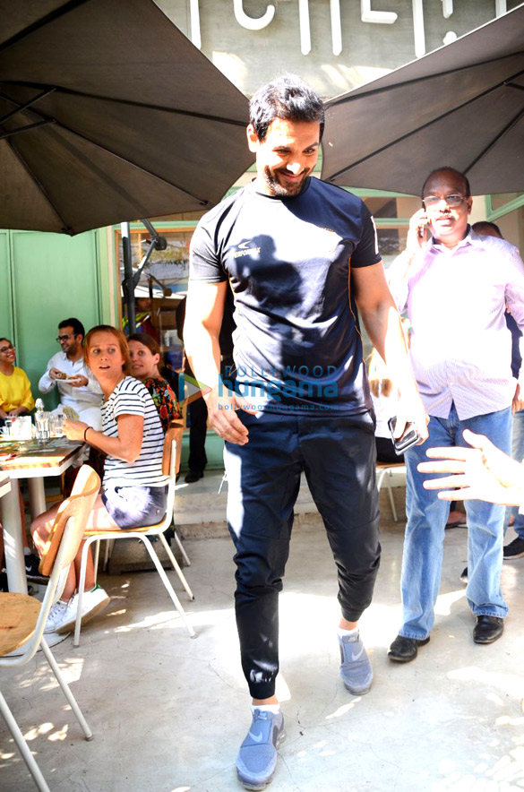John Abraham spotted at The Kitchen Garden in Bandra