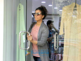 Kajol spotted in Juhu