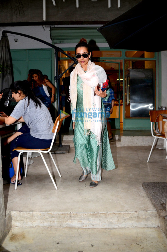 Malaika Arora spotted at The Kitchen Garden in Bandra