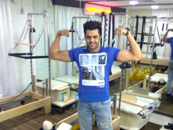 Manish Paul snapped at pilates studio launch