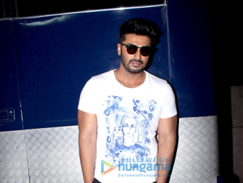 Parineeti Chopra and Arjun Kapoor snapped at Filmalaya Studio in Andheri