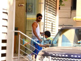 Ranbir Kapoor spotted after dance rehersals in Khar