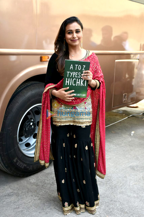Rani Mukerji snapped at Hitchki promotions on the sets of Dance India Dance