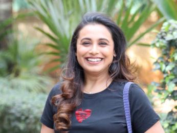 Rani Mukerji snapped during Hichki promotions