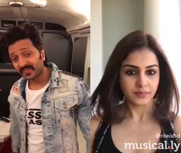 Riteish Deshmukh - Genelia D'Souza pull off Shah Rukh Khan - Kajol, leave us in splits (watch video)