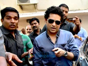 Sachin Tendulkar snapped in Bandra