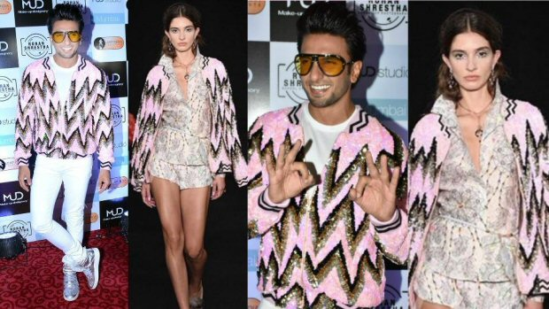 See pic: Ranveer Singh SHOCKS again, dons a woman's jacket