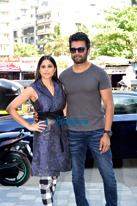 Sharad Kelkar and Sai Tamhankar promote their Marathi film 'Rakshas'