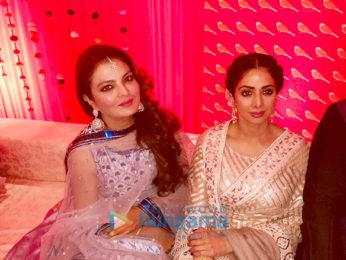 Sheeba spotted with Sridevi, Poonam Dhillon and Padmini Kolhapure at Delhi wedding