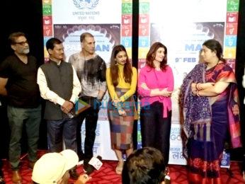 Smriti Irani snapped at Akshay Kumar's special screening of Pad Man for the I&B Ministry
