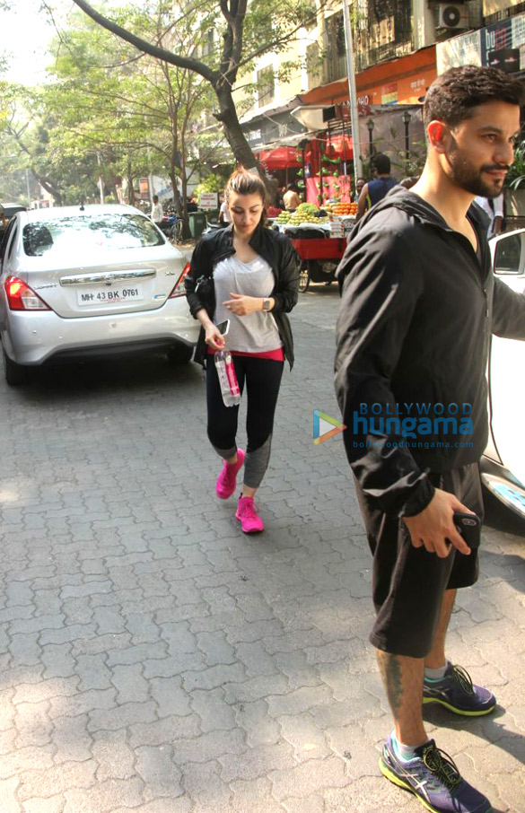 Soha Ali Khan and Kunal Khemu snapped at the Kitchen Garden in Bandra