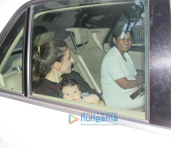 Soha Ali Khan spotted with her Inaaya Naumi at Kareena Kapoor Khan's house