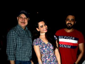 Soundarya Sharma and Anupam Kher snapped in Juhu