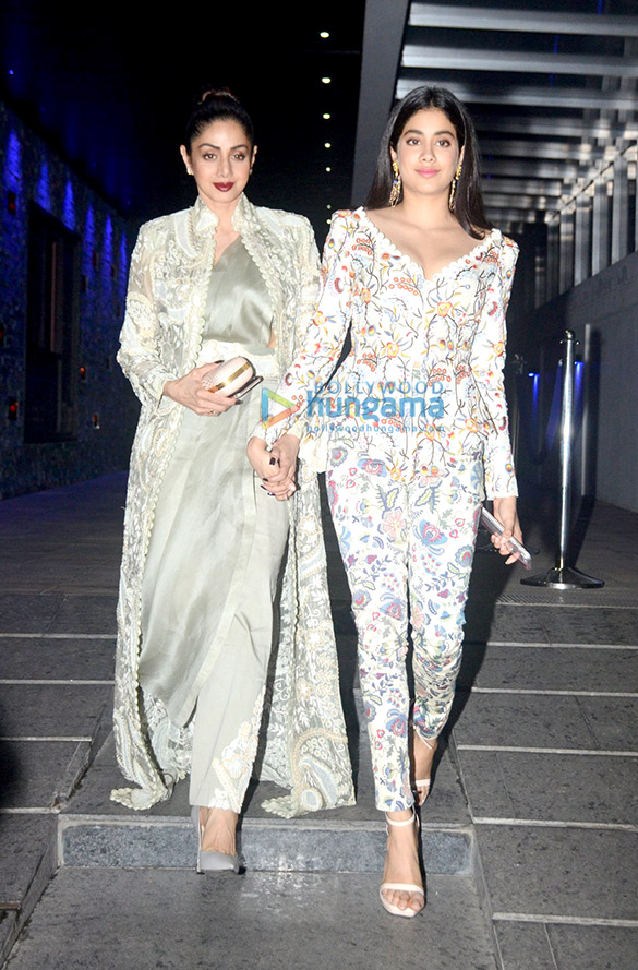 Sridevi and Janhvi Kapoor snapped at Hakkasan in Bandra