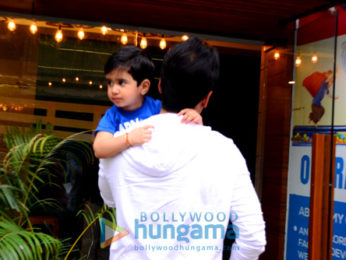 Tusshar Kapoor spotted at his son's school in Bandra