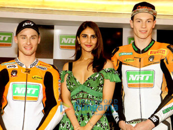 Vaani Kapoor snapped attending the NRT World Supersport Racing event