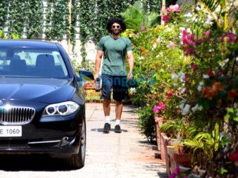 Aditya Roy Kapur and Sidharth Malhotra snapped at the gym in Bandra