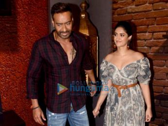 Ajay Devgn and Ileana D'Cruz snapped at Sun & Sand Hotel in Juhu