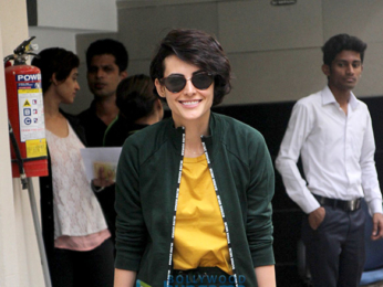 Mandana Karimi spotted at A'Kreations salon in Bandra