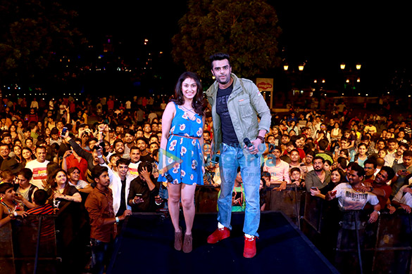 Manish Paul and Manjari Fadnis snapped promoting 'Baa Baaa Black Sheep' at Imagica