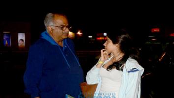 Shraddha Kapoor, Janvhi Kapoor and Boney Kapoor snapped at the airport
