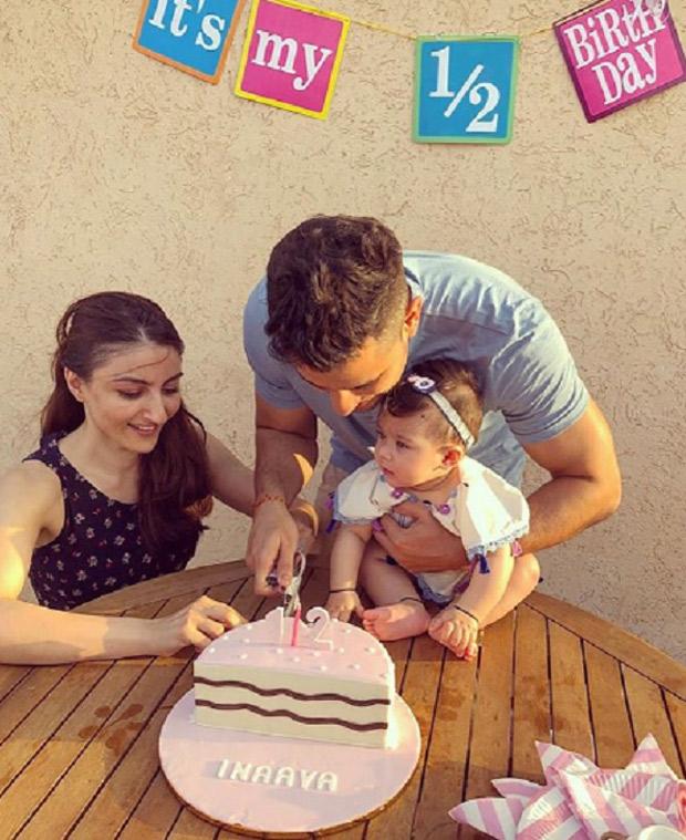 Soha Ali Khan and Kunal Khemu introduce the concept of half birthday for Inaaya