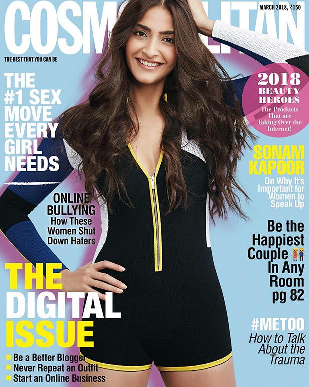 Sonam Kapoor on March 2018 edition of Cosmopolitan