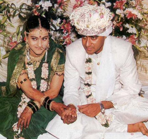 This pic of Kajol and Ajay Devgn reminds us of their gorgeous wedding portrait (view pic)
