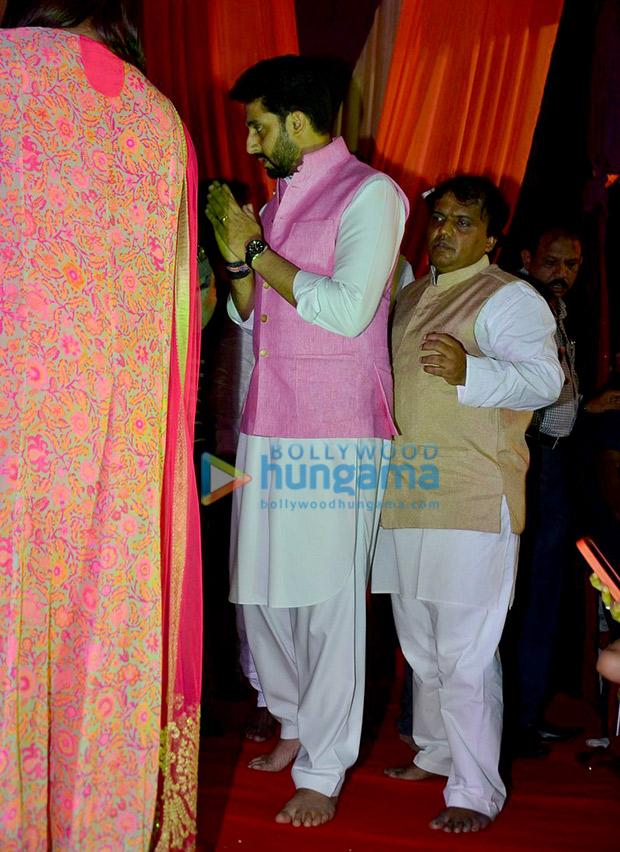 Abhishek Bachchan at Ganesh Chaturthi