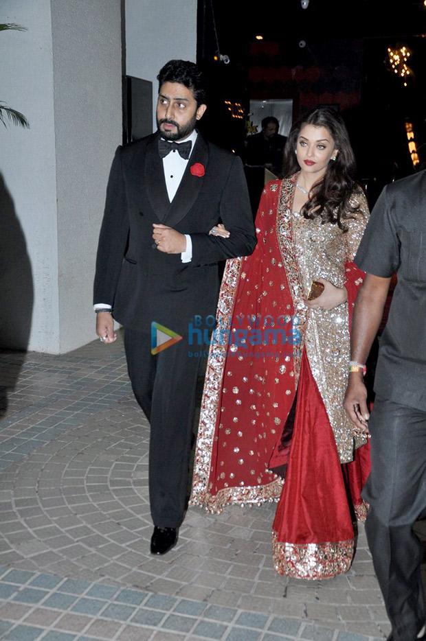 Aishwarya Rai Bachchan and Abhishek Bachchan at Ambani bash