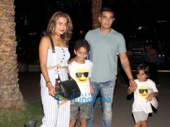 Amrita Arora snapped with family spotted at Nara Thai, BKC