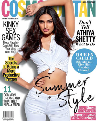 Athiya Shetty on Cosmopolitan for April 2018