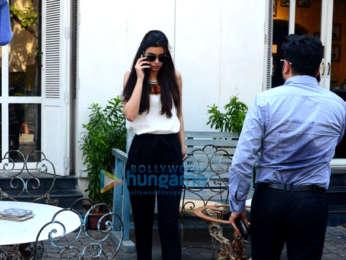 Daina Penty spotted at Taj Mahal Tea House in Bandra