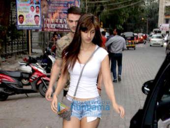 Disha Patani spotted at a salon
