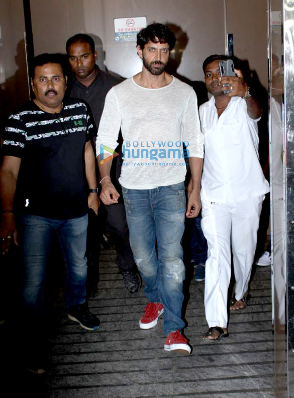 Hrithik Roshan and family snapped post a movie screening at PVR Juhu
